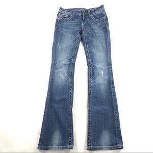 Miss Me Bootcut Jeans 26 Low Rise Flap Pocket